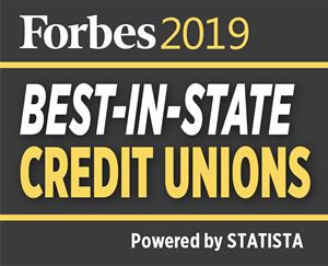 Forbes Best In State Credit Union logo